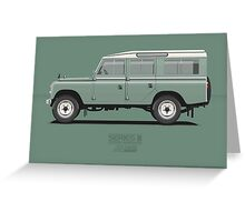 Series 3 Station Wagon 109 Light Green Greeting Card