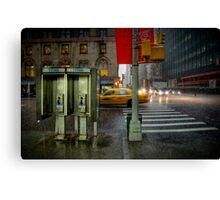Rainy evening in Manhattan Canvas Print