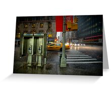 Rainy evening in Manhattan Greeting Card