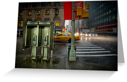 Rainy evening in Manhattan by Laurent Hunziker