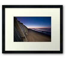 the suns setting Framed Print