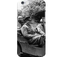 General Eisenhower In A Jeep -- WW2 iPhone Case/Skin