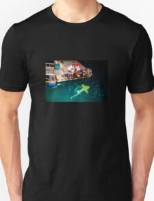 Black tip reef shark feeding in the Maldives Unisex T-Shirt