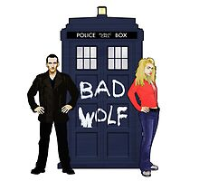 The Ninth Doctor and Rose by Chris Singley
