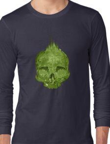 Skull Green Long Sleeve T-Shirt