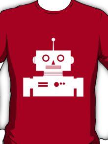 Retro Robot Shape Wht T-Shirt