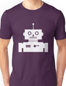 Retro Robot Shape Wht Unisex T-Shirt