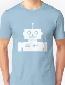 Retro Robot Shape Wht T-Shirt