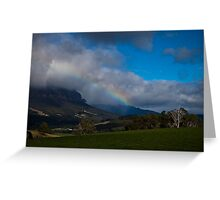 Mt Roland Rainbow 2 Greeting Card