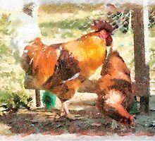 Rooster and Hen by SharonD