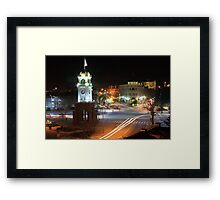 Cock Tower Intersection - Downtown Santa Cruz Framed Print