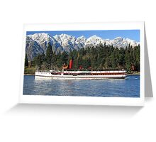 Steaming home Greeting Card