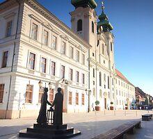 Győr city square  by zumi