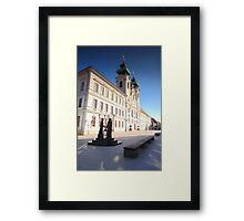 Győr city square  Framed Print