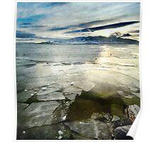 Utah Lake - Winter Poster