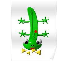 Cute newt nibbling nachos Poster