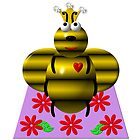 Cute queen bee on a quilt by Rose Santuci-Sofranko