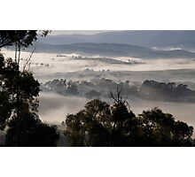 landscapes #215, foggy valleys Photographic Print