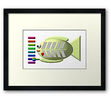 Cute x-ray fish playing the xylophone Framed Print