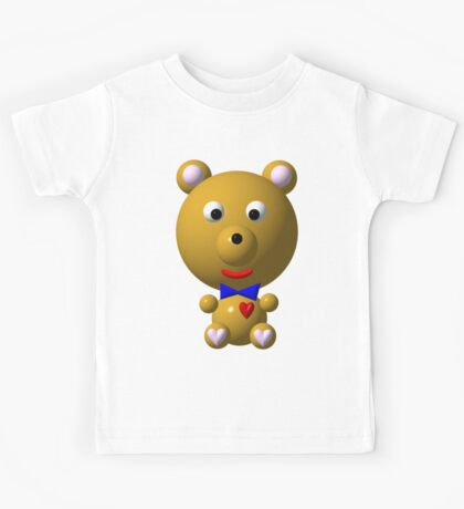 Cute bear with a bow tie Kids Tee