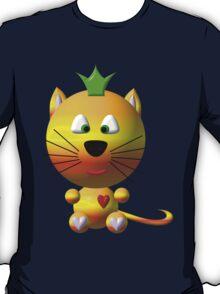 Cute cat wearing a crown T-Shirt