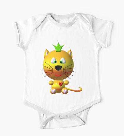 Cute cat wearing a crown One Piece - Short Sleeve