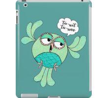 Tu Wit Tu Woo Owl Illustration iPad Case/Skin