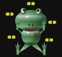 Cute frog and flies Kids Tee