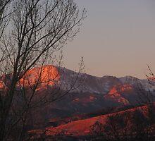 """Sunrise Pink on Pike's Peak"" by dfrahm"