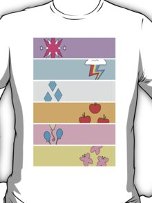 Friendship is Magic - Cutie Mark Collection (Version 2) T-Shirt