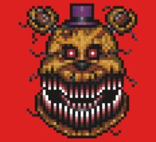 Five Nights at Freddys 4 - Nightmare Fredbear - Pixel art One Piece - Long Sleeve