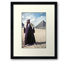 Camaleer at the Pyramids of Gizeh  Framed Print