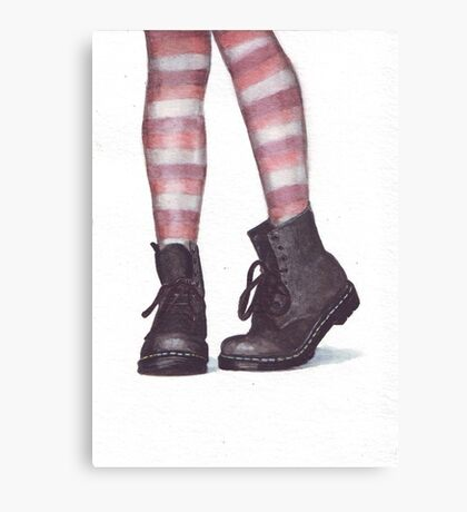 Dr Martens boots by Helga McLeod Canvas Print