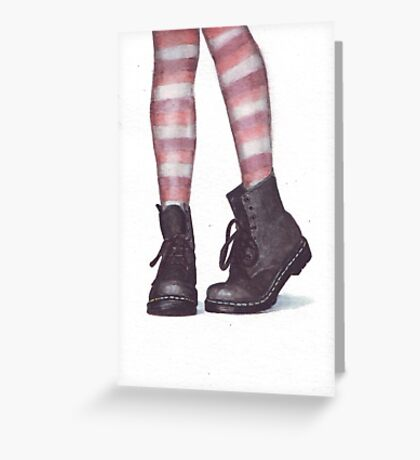 Dr Martens boots by Helga McLeod Greeting Card