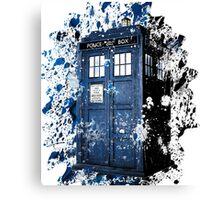 TARDIS Dispersion Canvas Print
