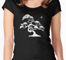 Bonsai Tree - White Women's Fitted Scoop T-Shirt