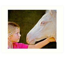 The Little Horse Whisperer Art Print