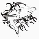 Tribal Shark 2 by Rhonda Blais
