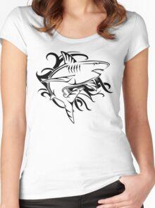 Tribal Shark 2 Women's Fitted Scoop T-Shirt