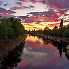 A Spectacular Sunset On The Ouse by Mat Robinson