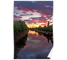 A Spectacular Sunset On The Ouse Poster