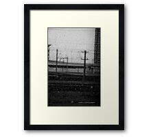 Rainy Day Train © Vicki Ferrari Photography Framed Print