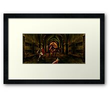 Should l stay and fight or Run Framed Print