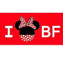 I Minnie BF [For Ladies] Photographic Print