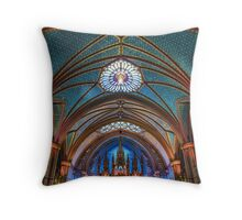Notre Dame in Montreal Throw Pillow