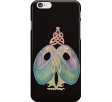 Celtic Love Birds Cool Blue iPhone Case/Skin