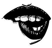 Ink Lip Bite Photographic Print