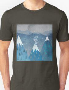 mountains bird Unisex T-Shirt