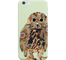 Umber Spotted Wood Owl iPhone Case/Skin