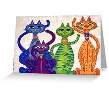 'High Street Cats' - a little bit Posh! (larger version) Greeting Card